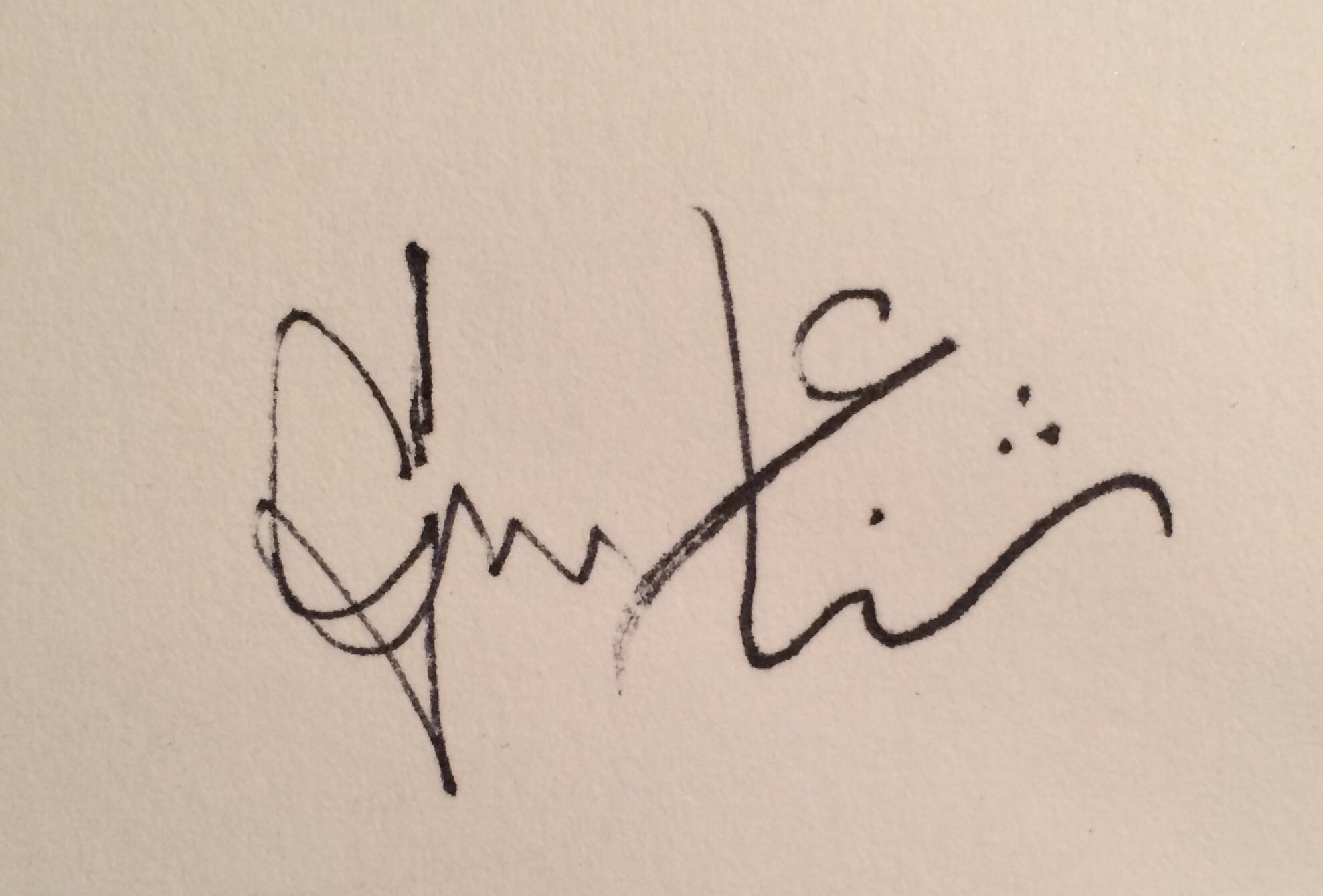 Sana Mirza's Signature