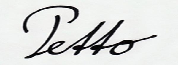 Franz PETTO's Signature