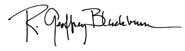 R. Geoffrey Blackburn's Signature