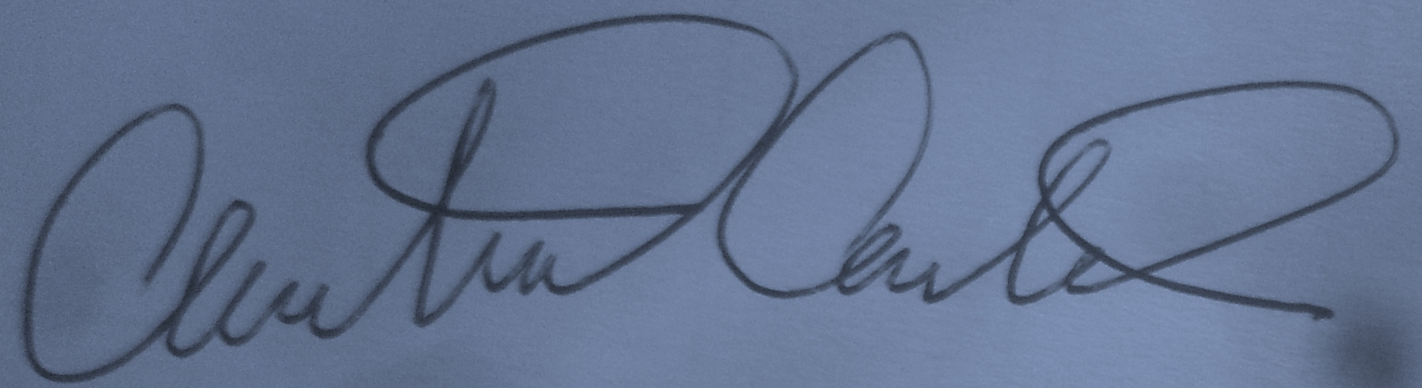 Chris Carter's Signature