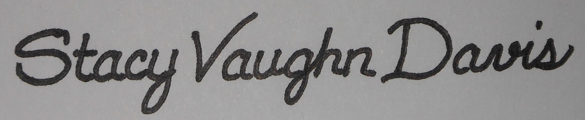 Stacy Davis's Signature
