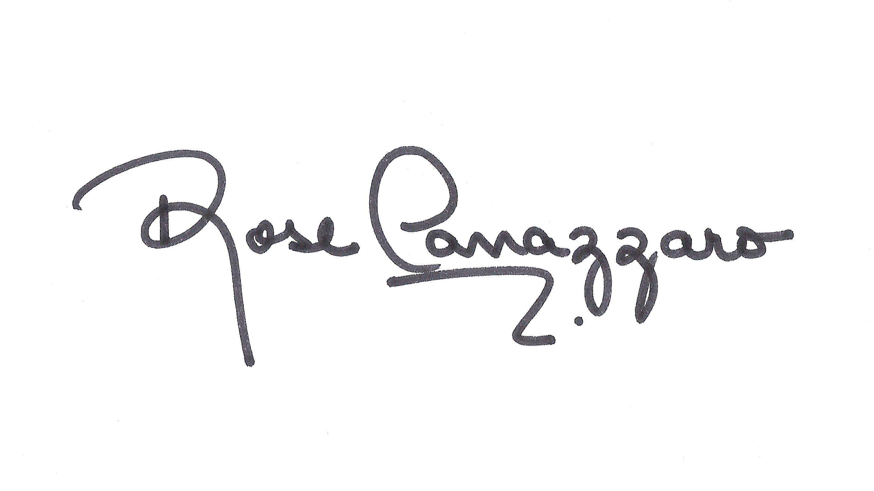 Rose Canazzaro's Signature