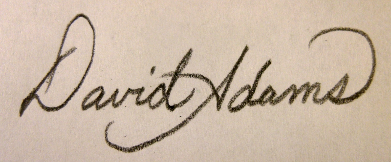 David Adams's Signature