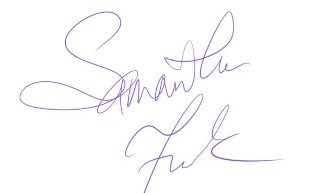 Samantha Frank's Signature