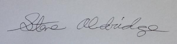 Steve Aldridge's Signature