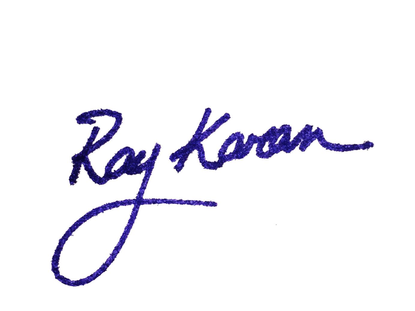 Ray Karam's Signature