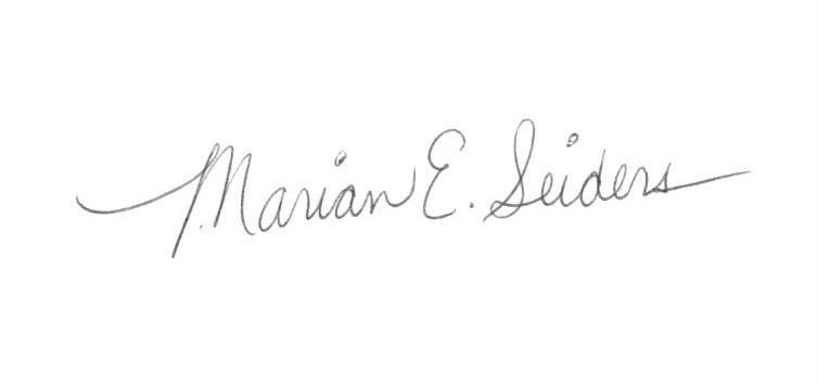 Marian E.  Seiders's Signature
