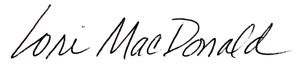 Lori MacDonald's Signature