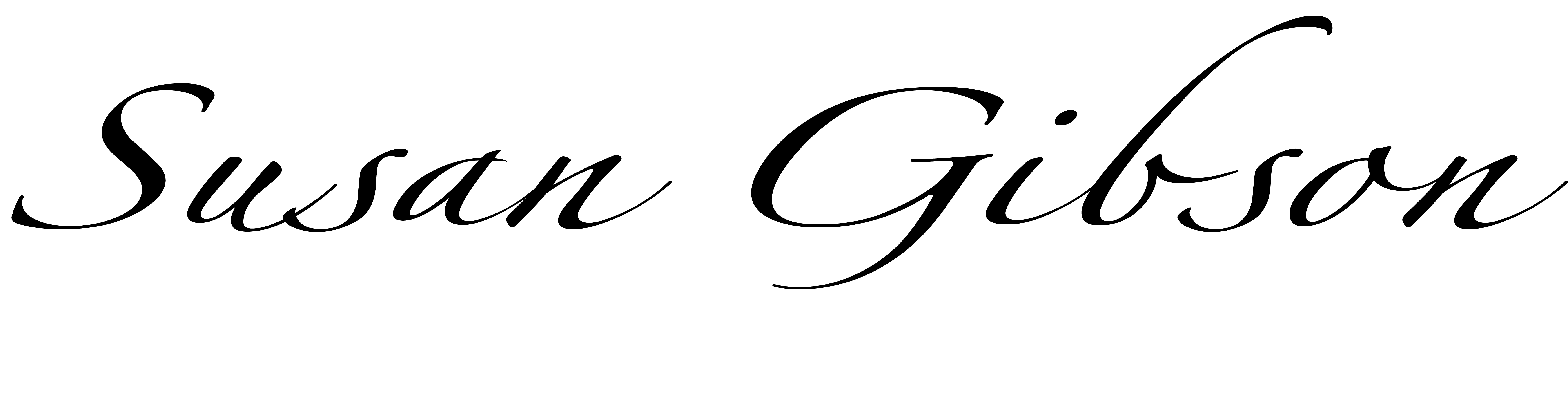 susan gibson's Signature