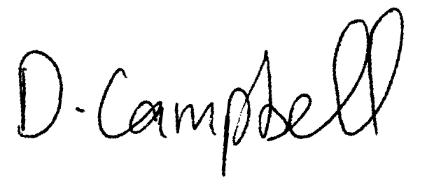 Damian Campbell's Signature
