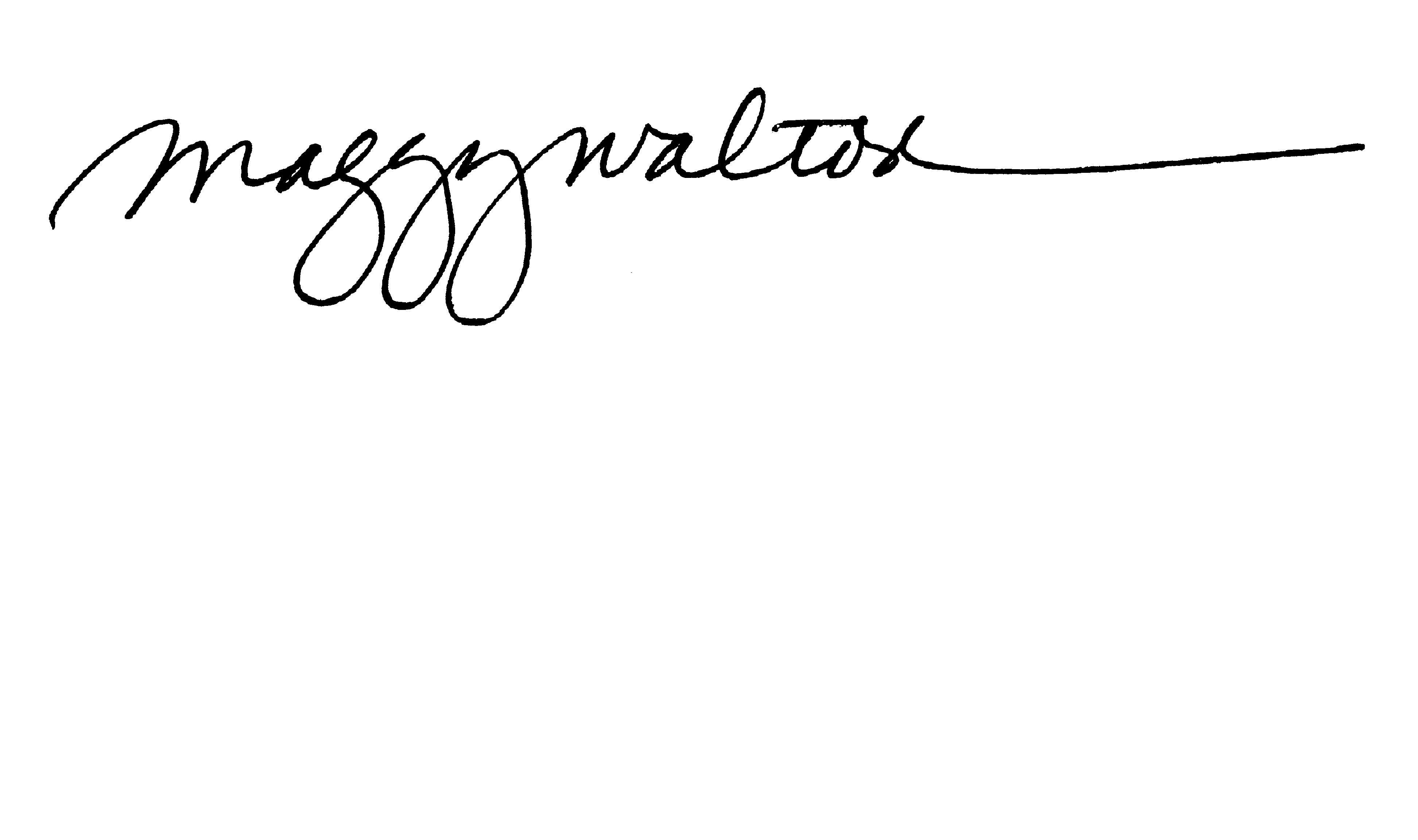 Maggy Walton's Signature