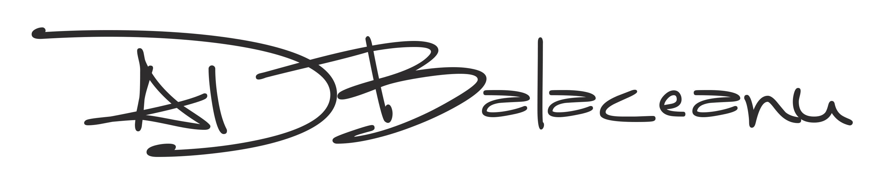 Alin Daniel Balaceanu's Signature