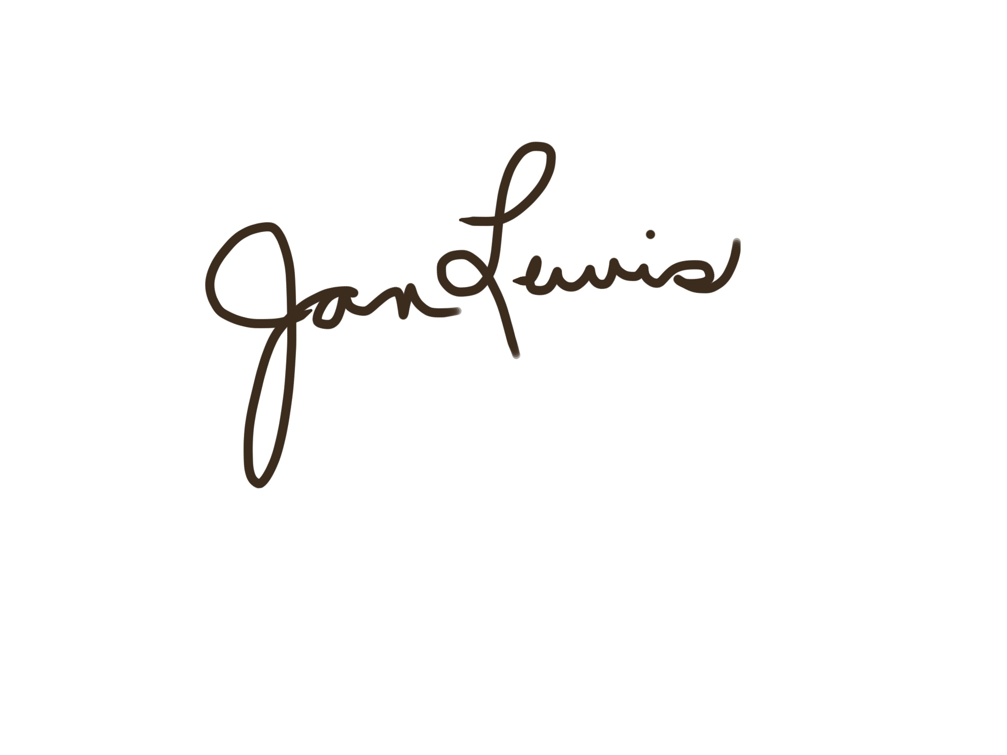 Jan Lewis's Signature