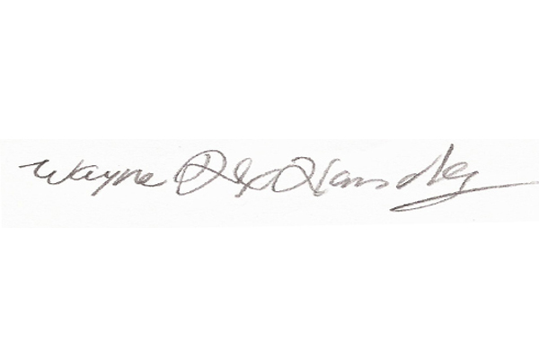 Wayne Handley's Signature