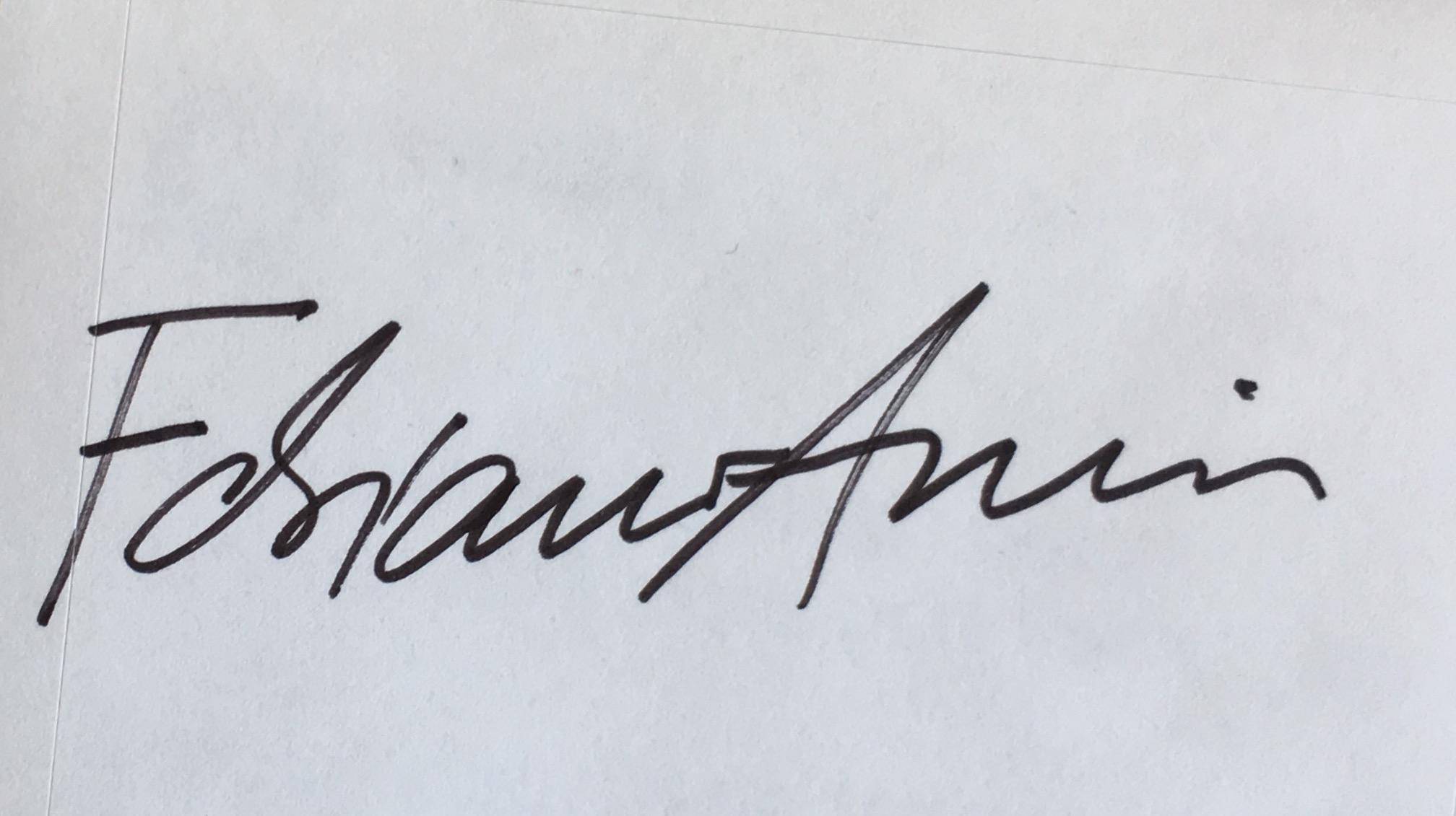 Fabiano Amin's Signature
