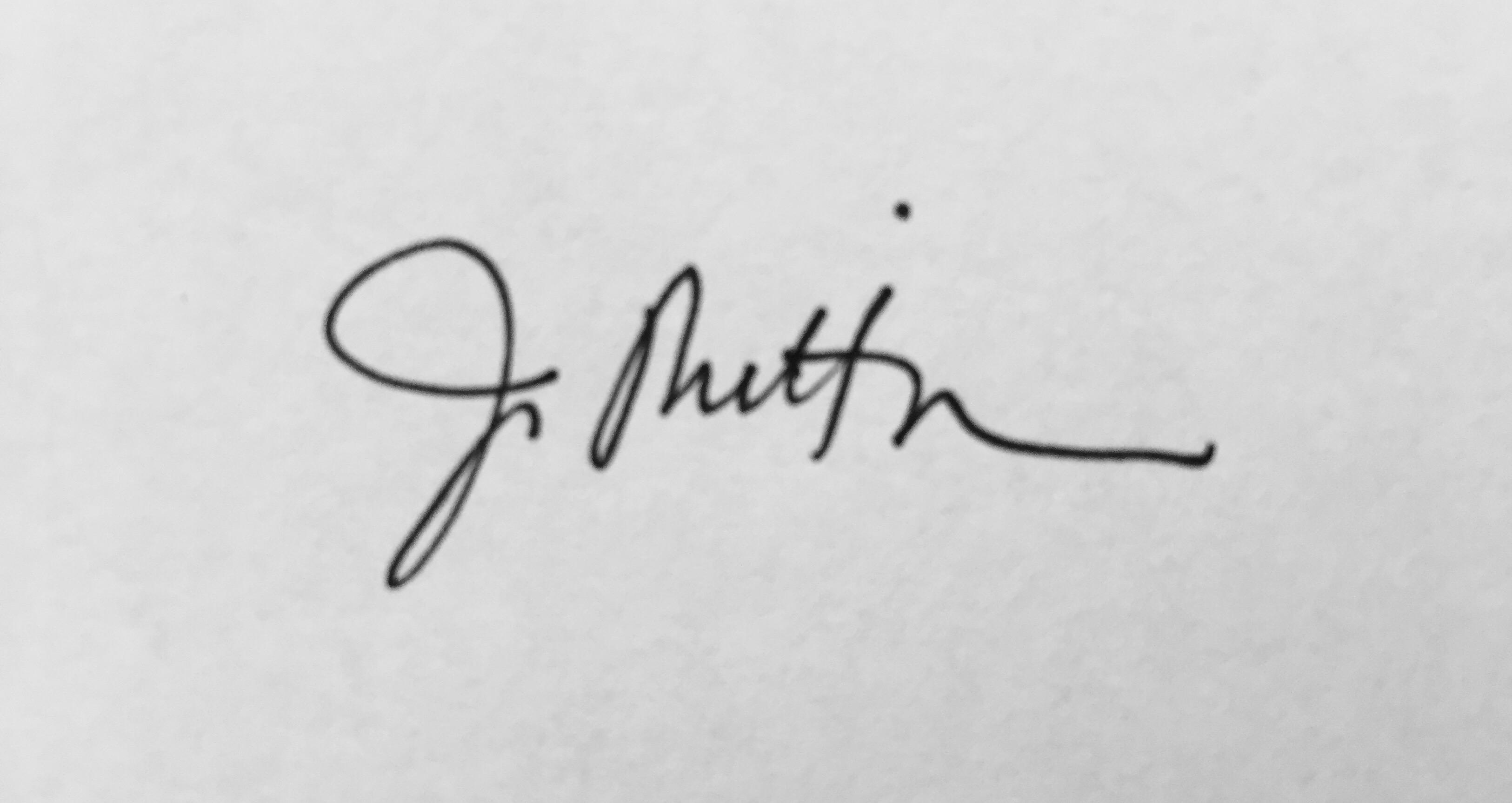 Joanna Mittman's Signature