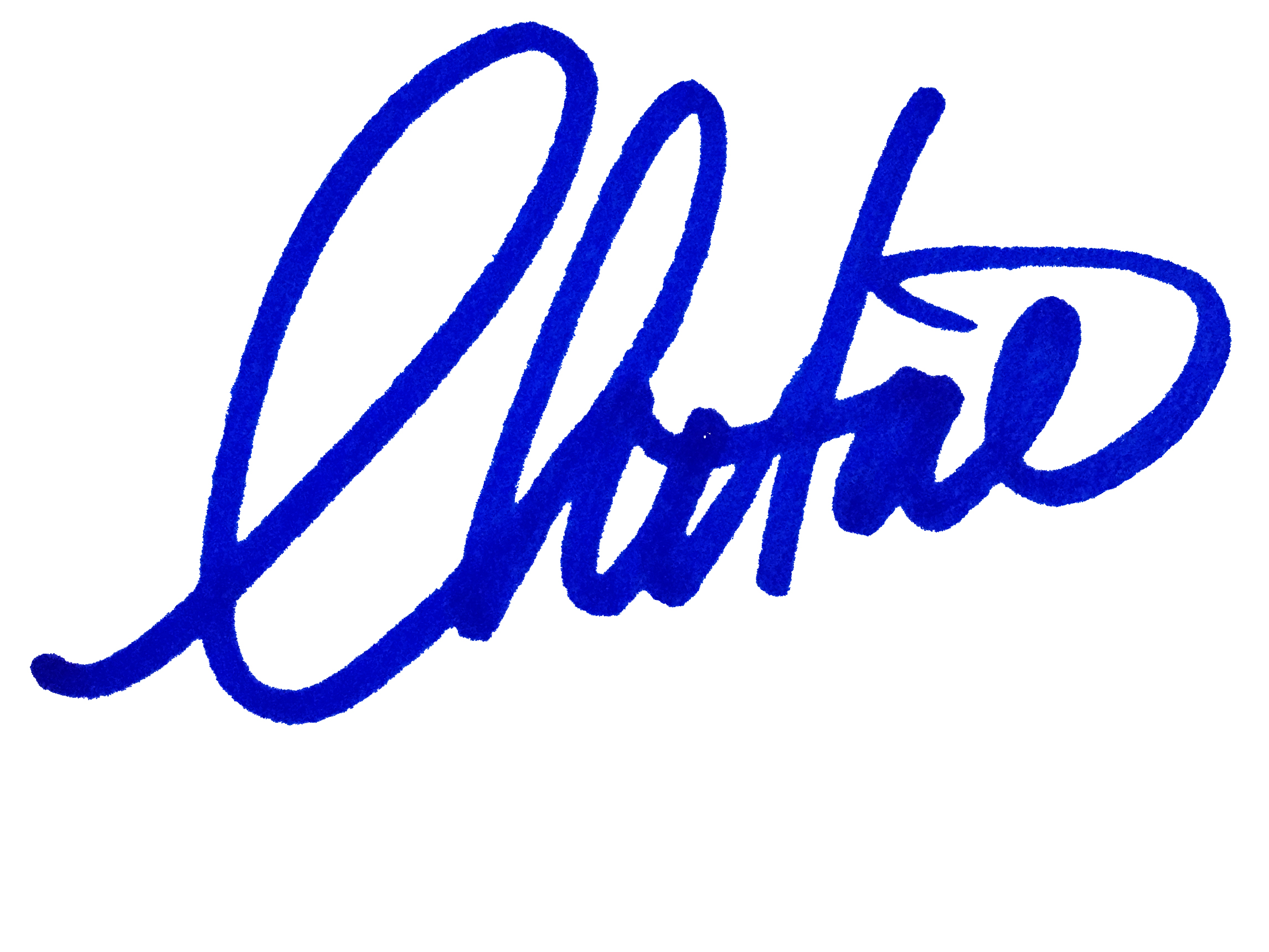 Christine Ward's Signature