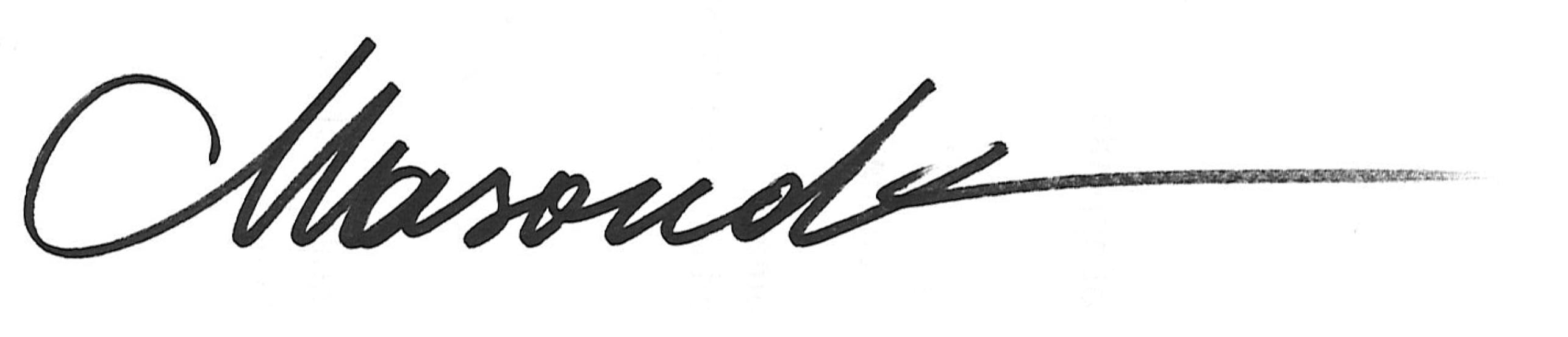 Masoud Kamali's Signature