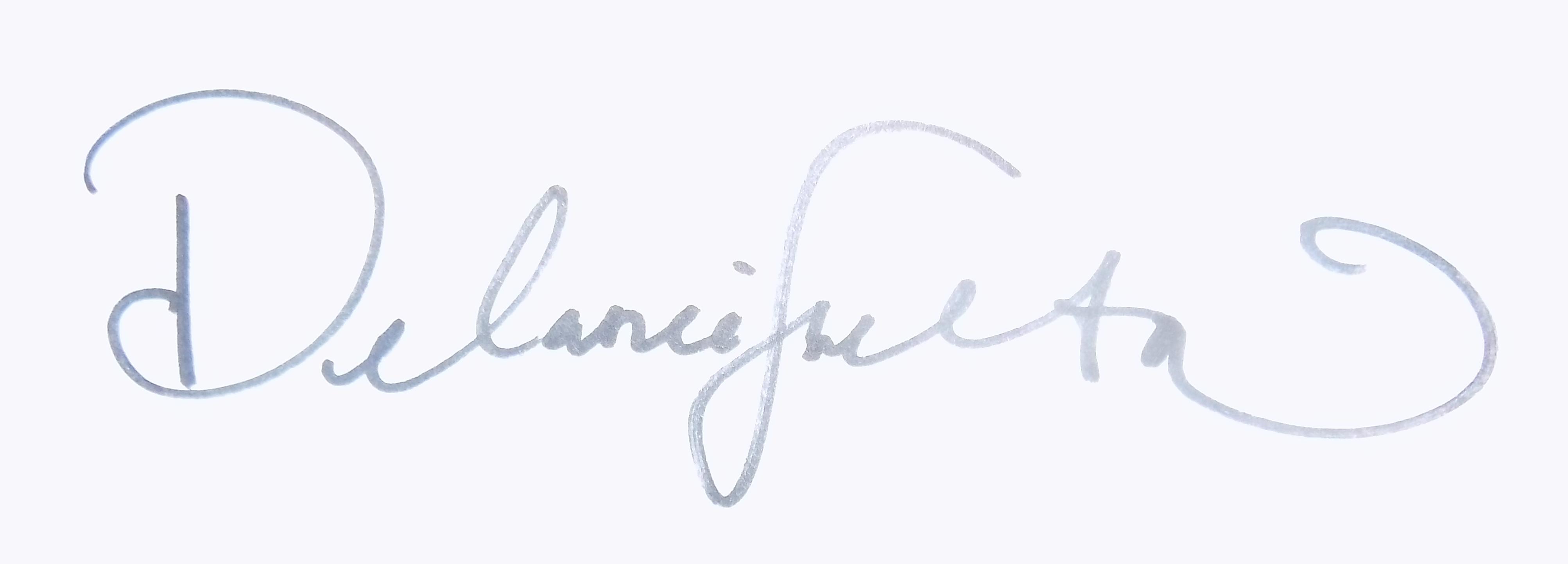 Delanie Shelton's Signature