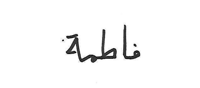 Fatema Josh's Signature