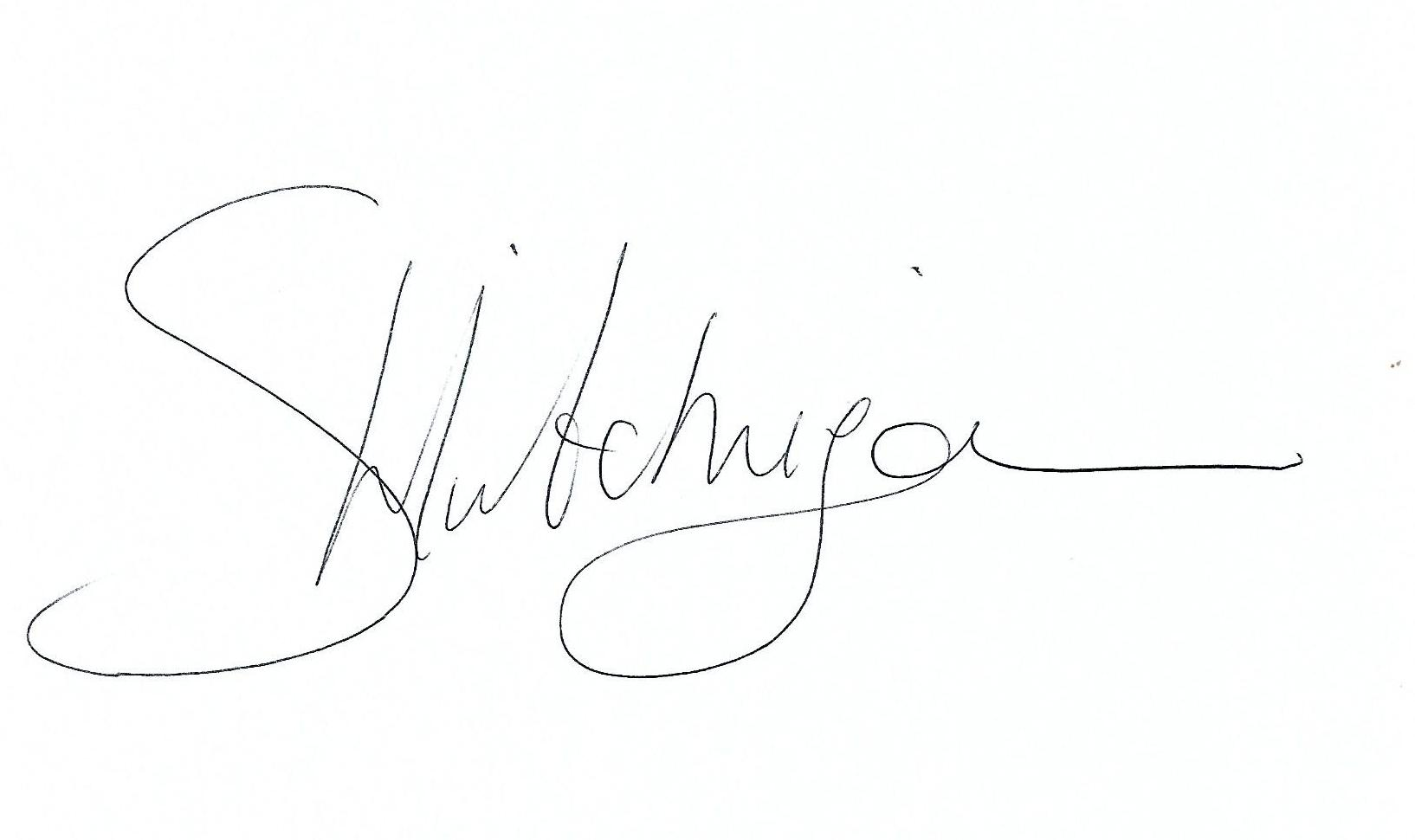 Samantha Hutchinson's Signature