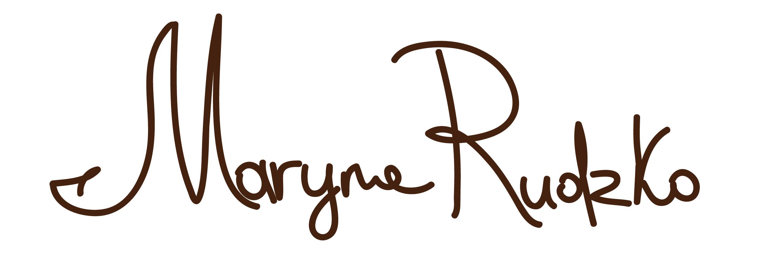Maryna Rudzko's Signature