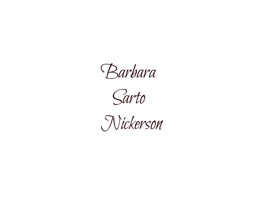 Barbara Sarto Nickerson's Signature