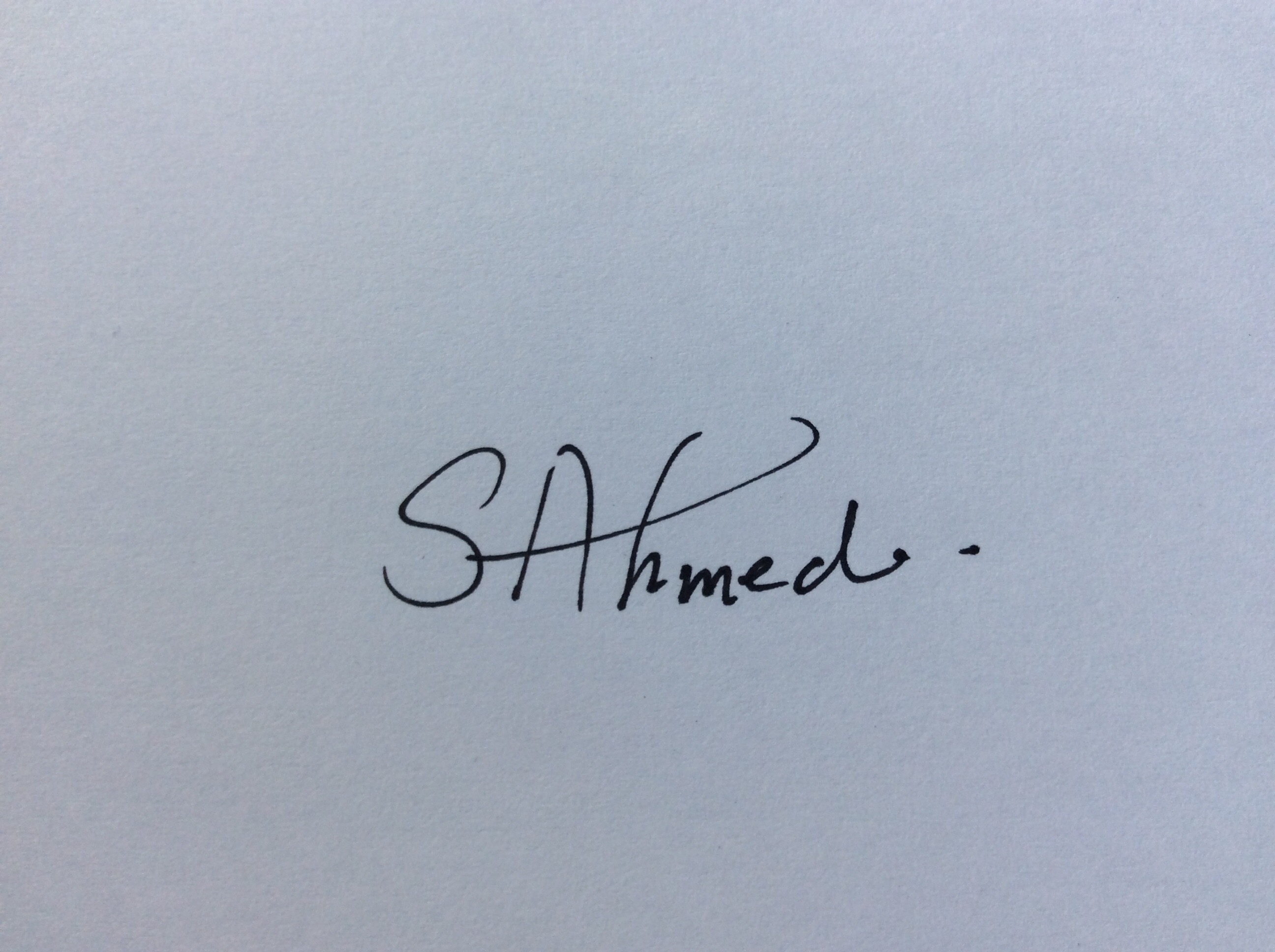 Samia Ahmed's Signature