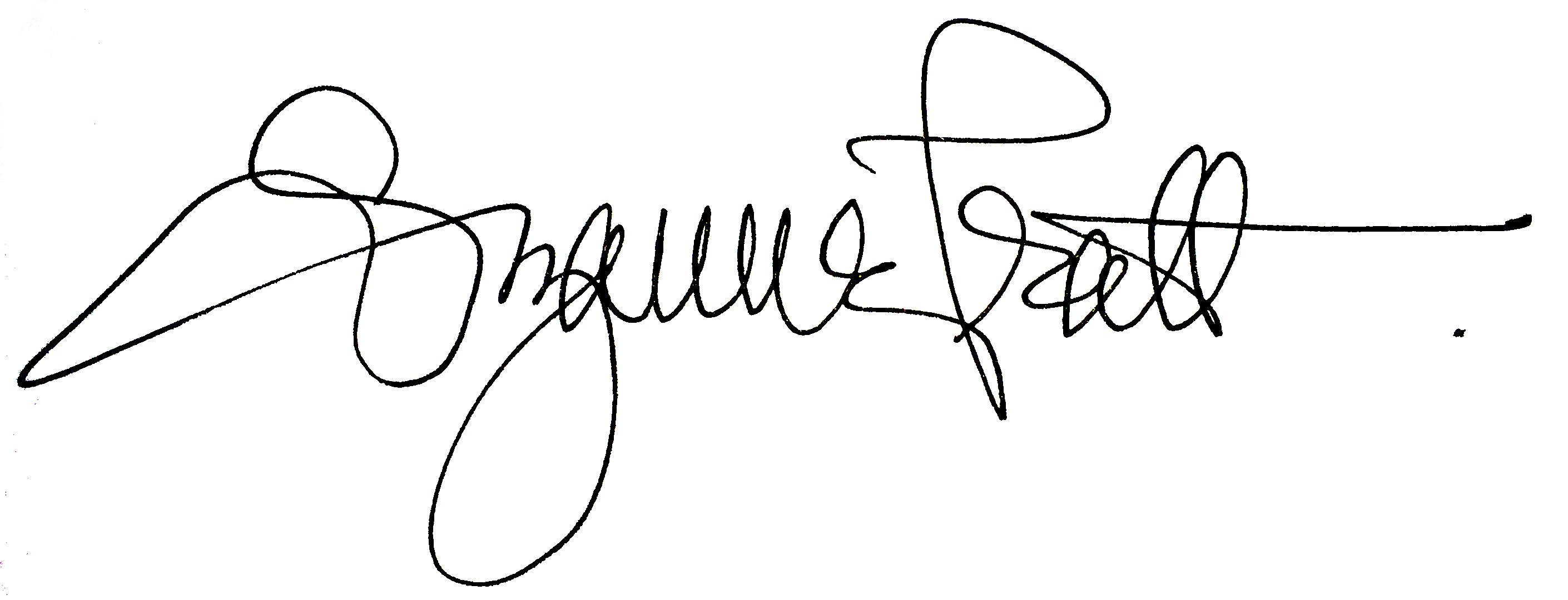 Suzanne Pratt's Signature