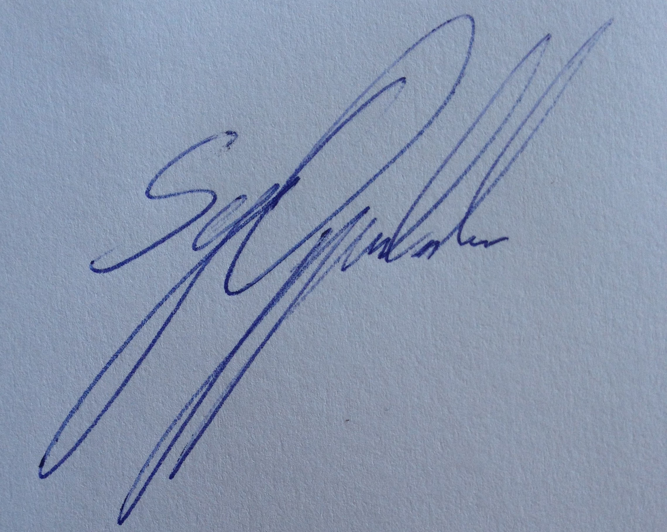 Sys  Oppenlander's Signature