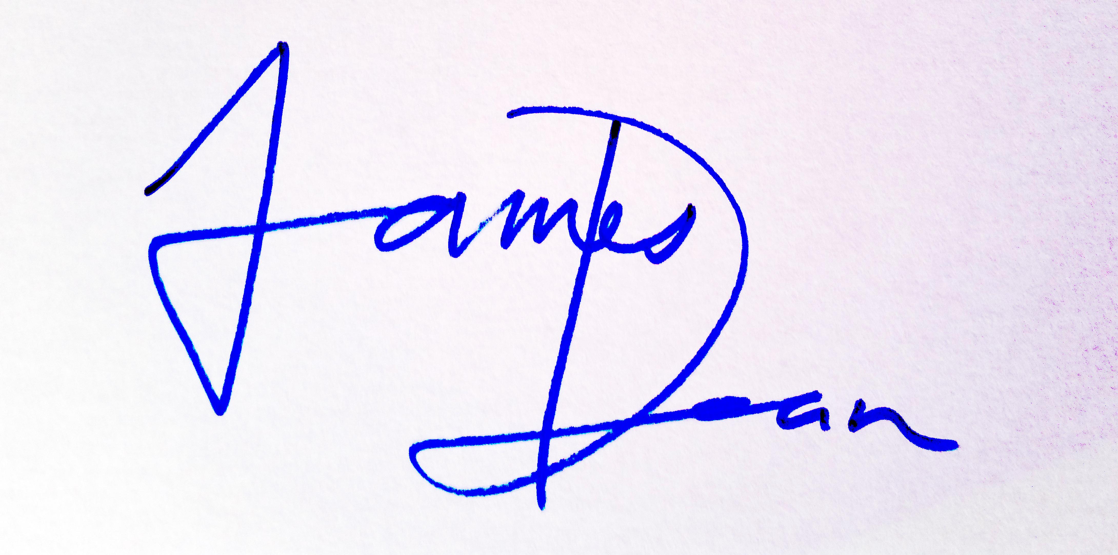 James Dean's Signature
