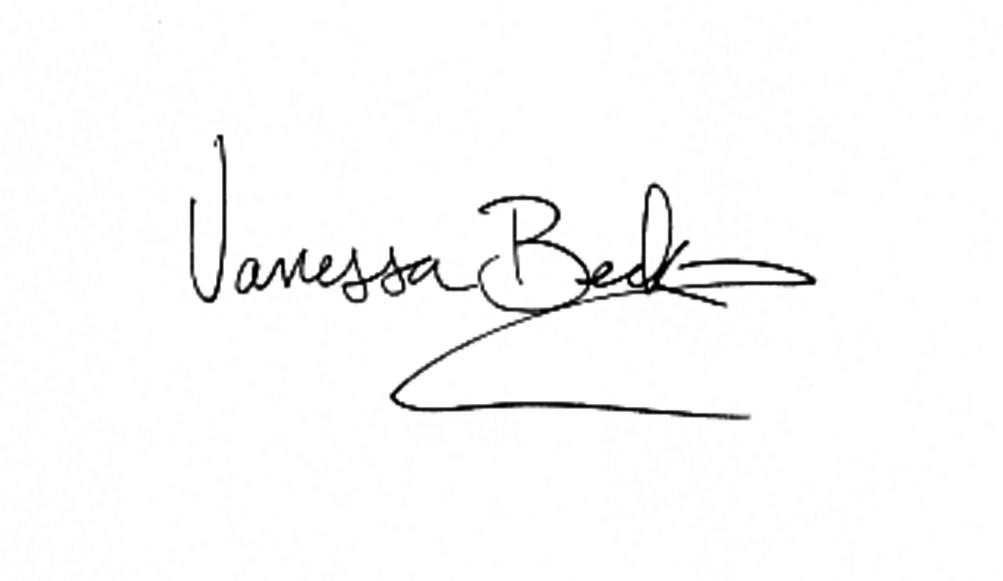 Vanessa beck's Signature