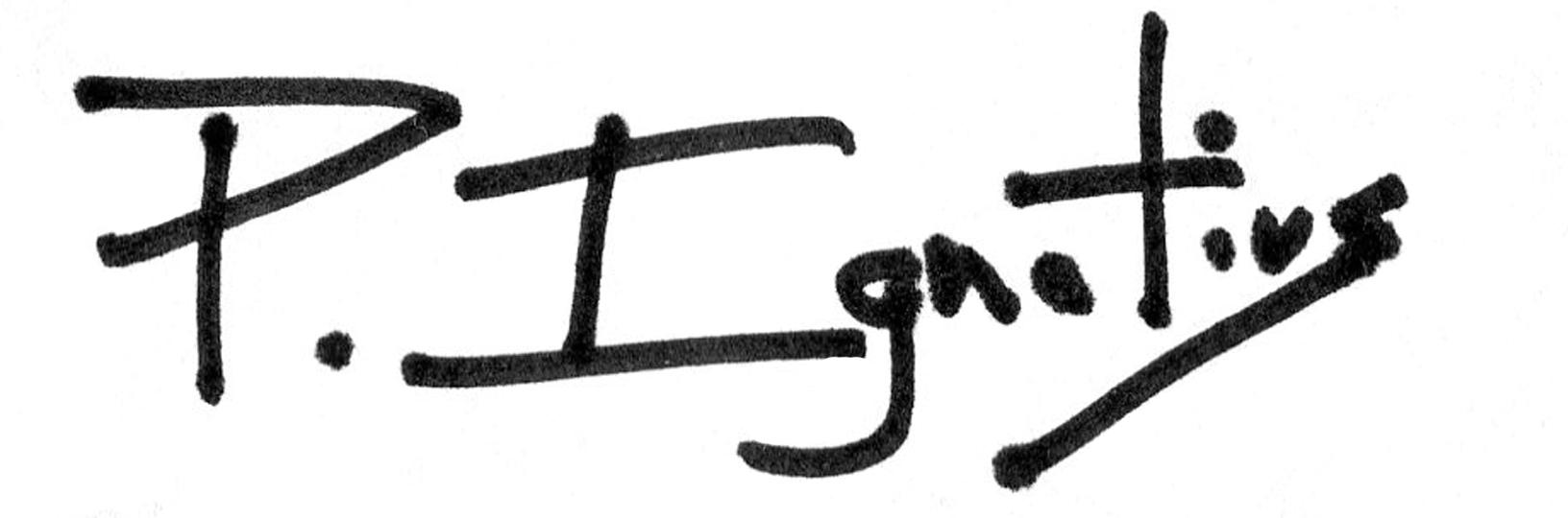 Peter Ignatius's Signature