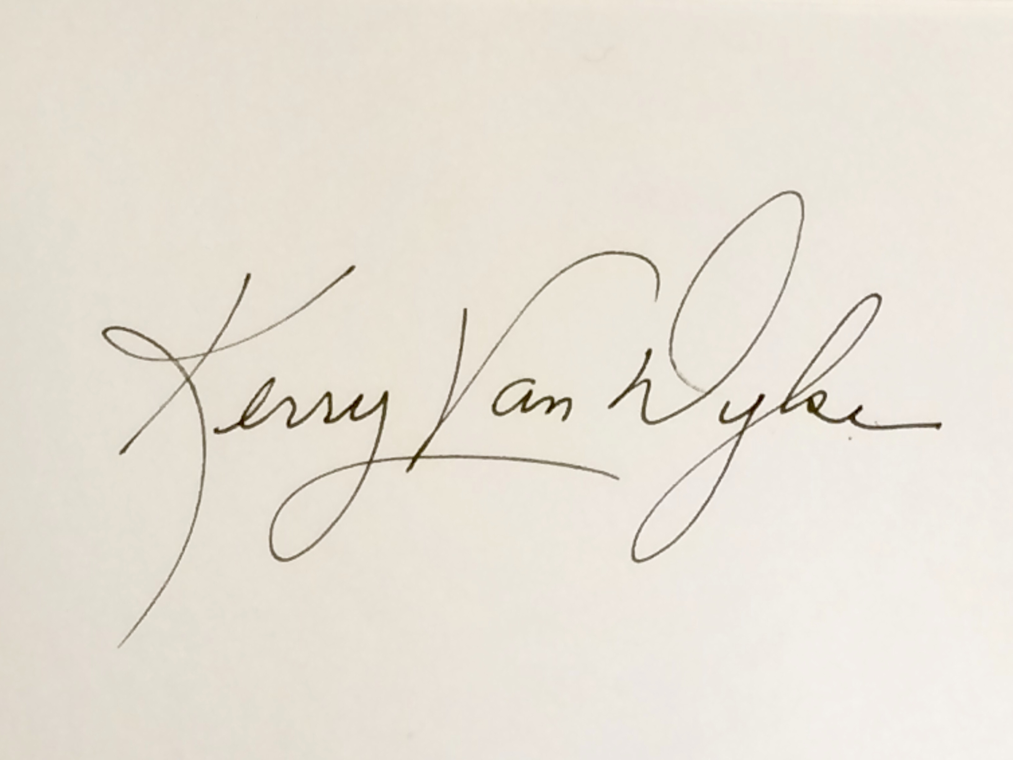 Kerry Van Dyke's Signature