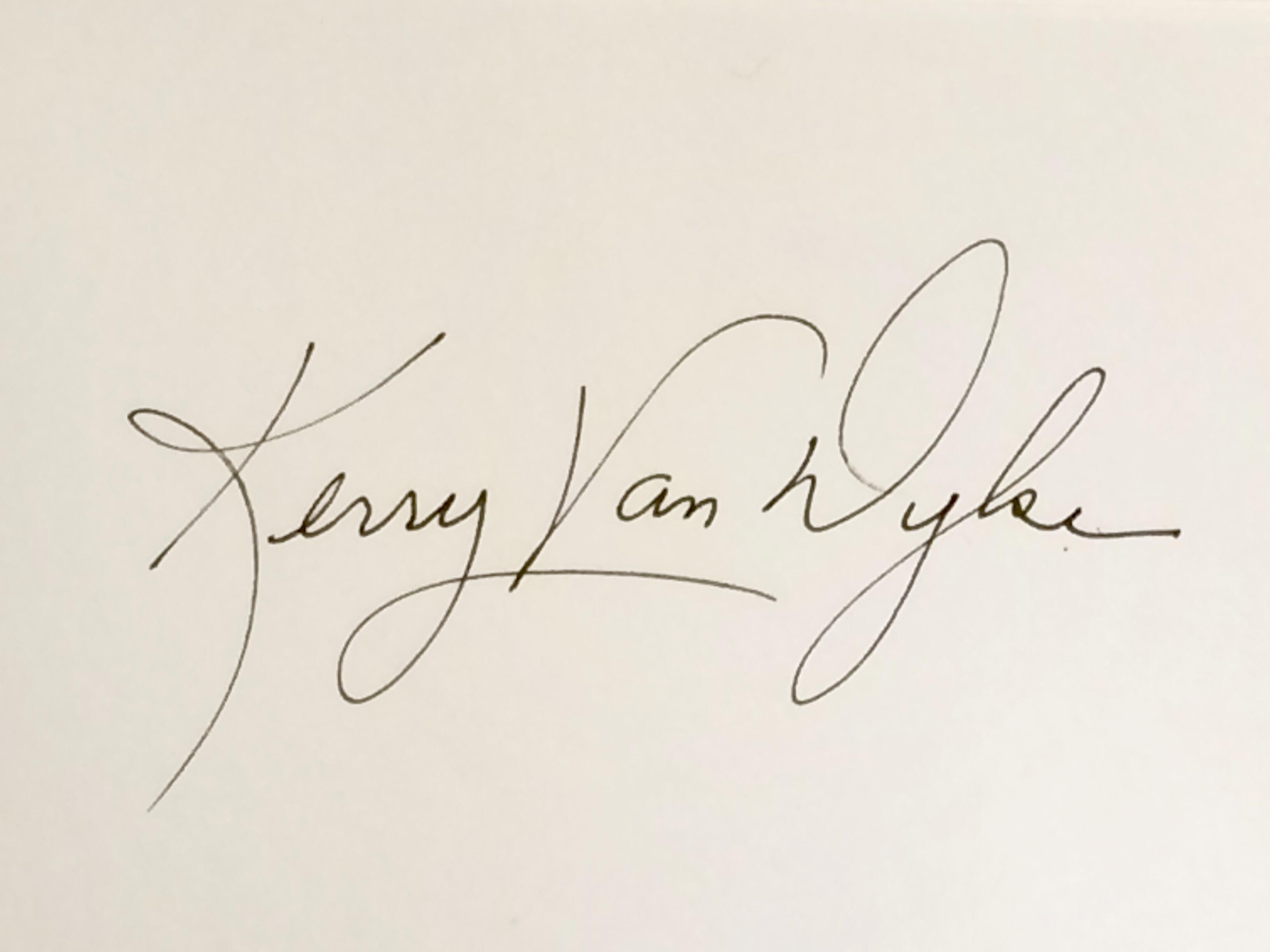 Kerry Van Dyke's Signature
