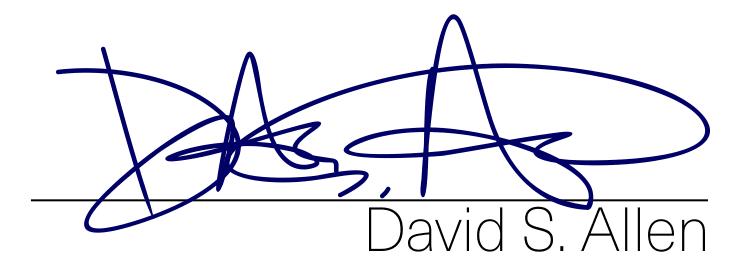 David Allen's Signature