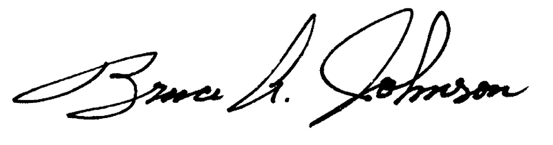 Bruce Johnson's Signature
