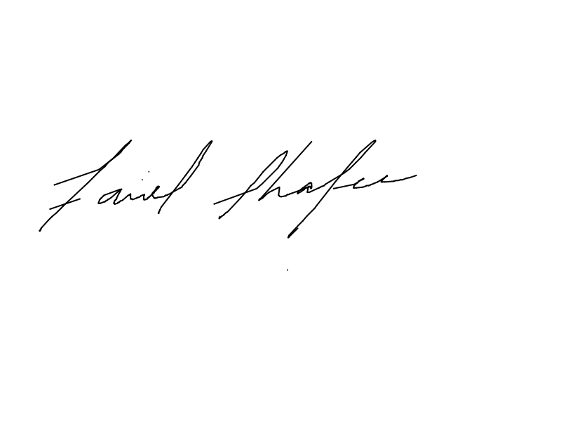 Fariel Shafee's Signature