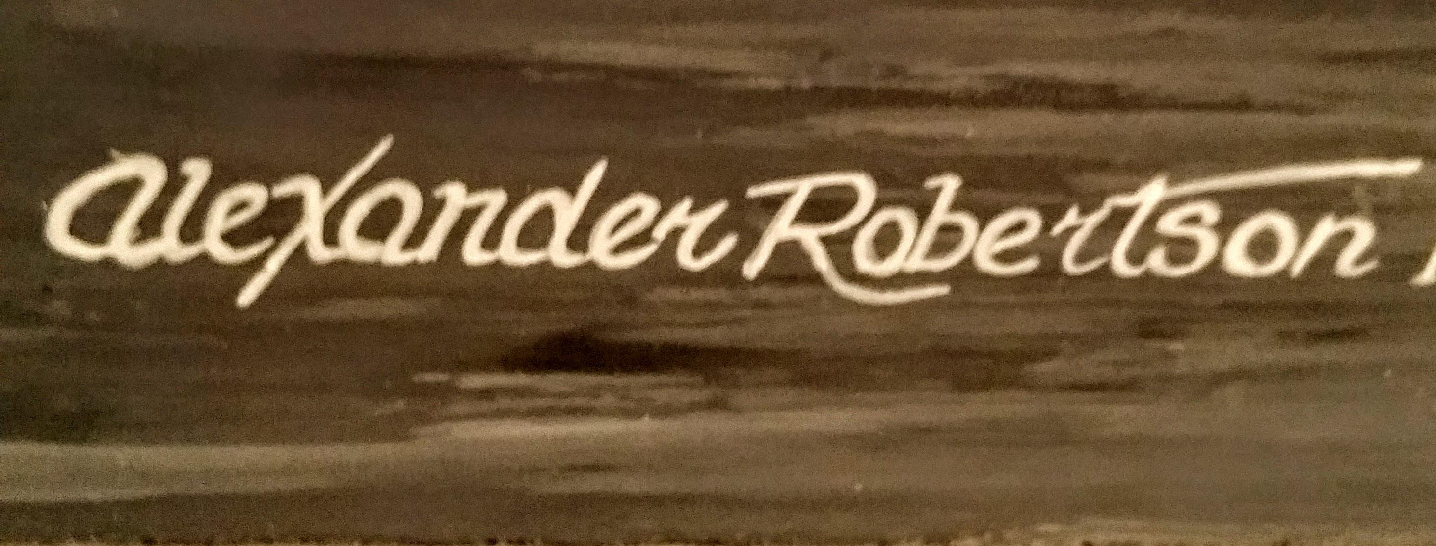 Alexander Robertson's Signature