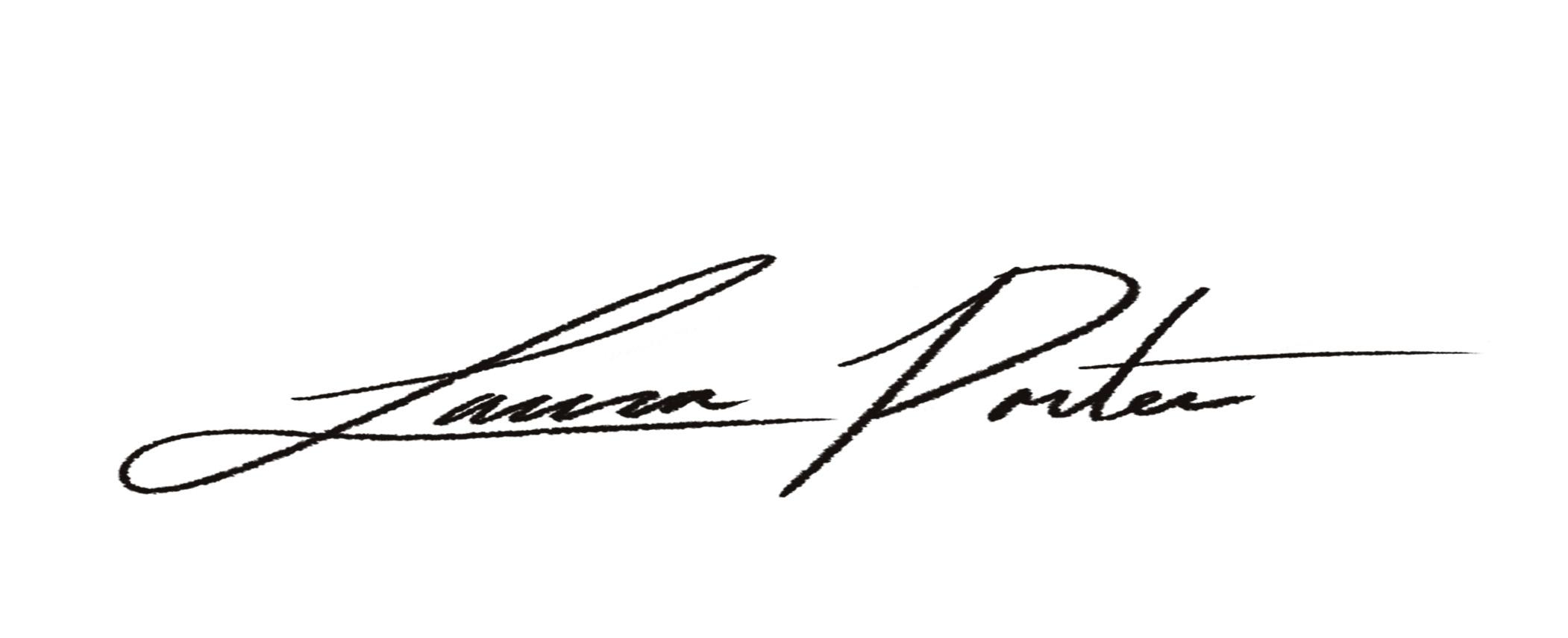 Laura Porter's Signature
