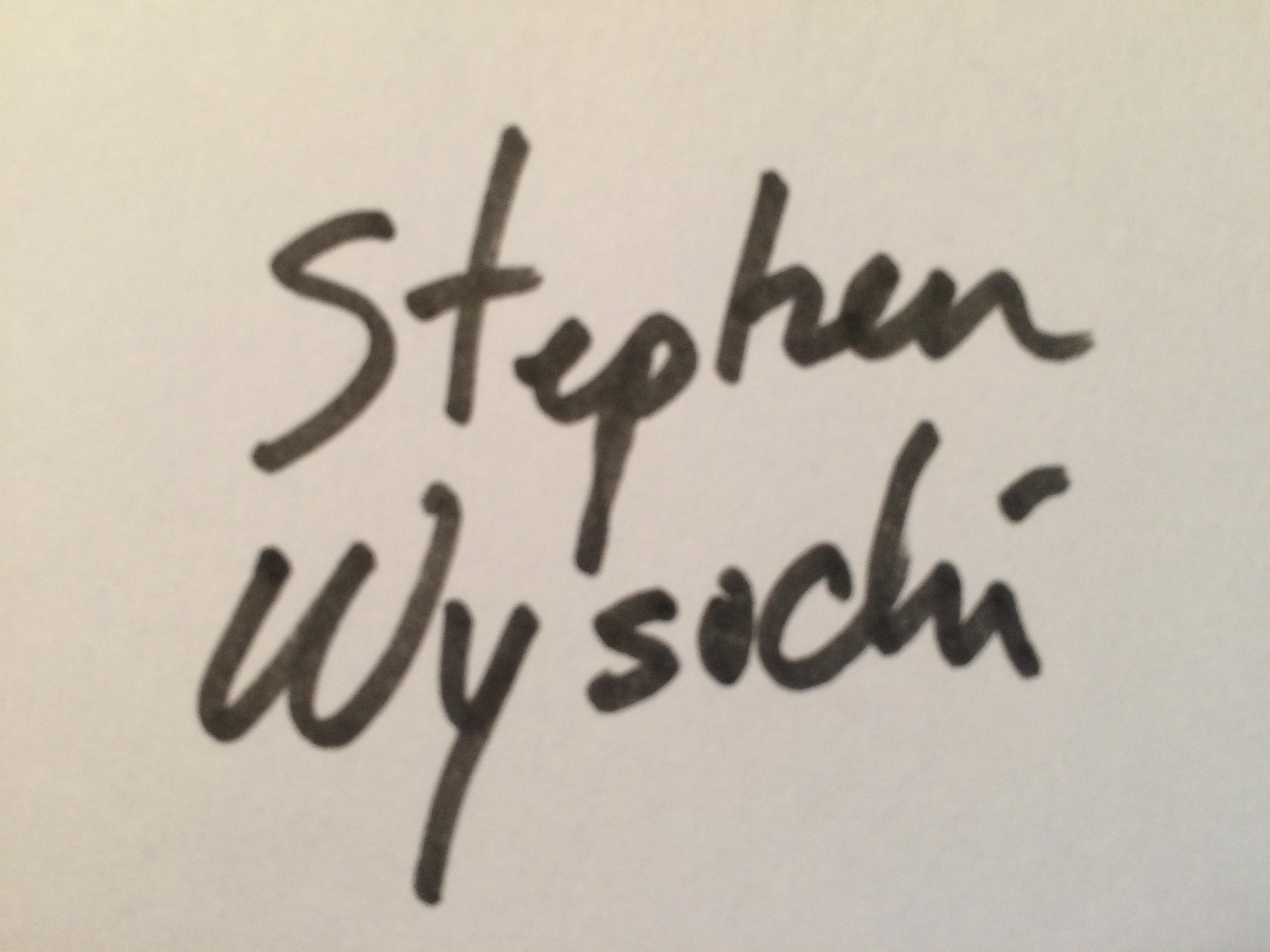 Stephen Wysocki's Signature