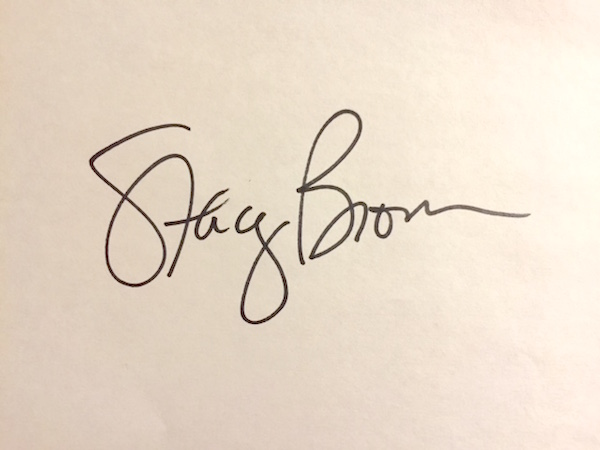 Stacey Brown's Signature