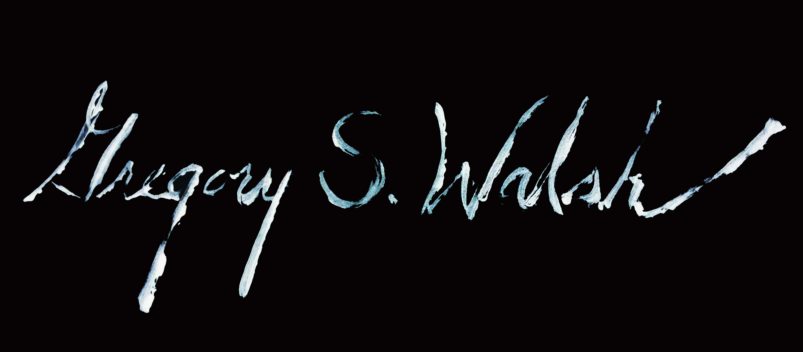 Gregory s. Walsh's Signature