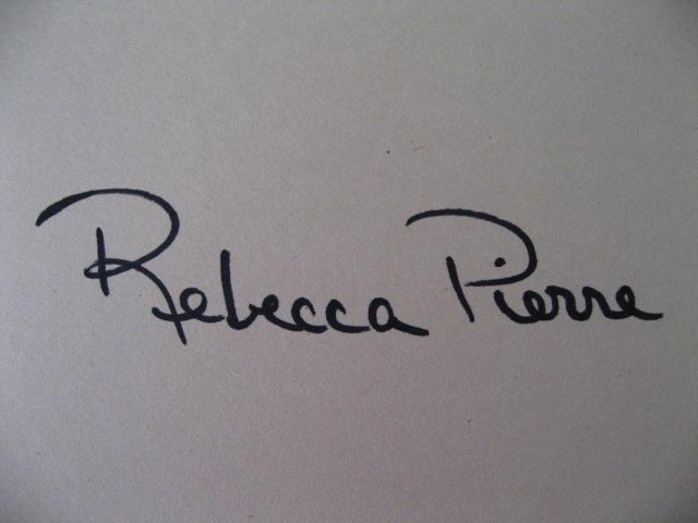 Rebecca Pierre's Signature