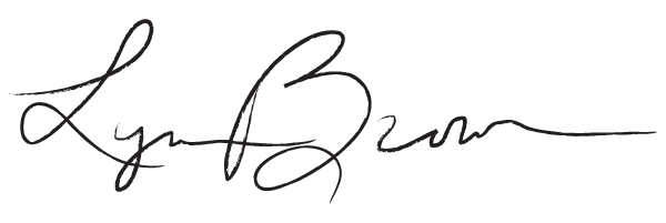 Lynne Brown's Signature