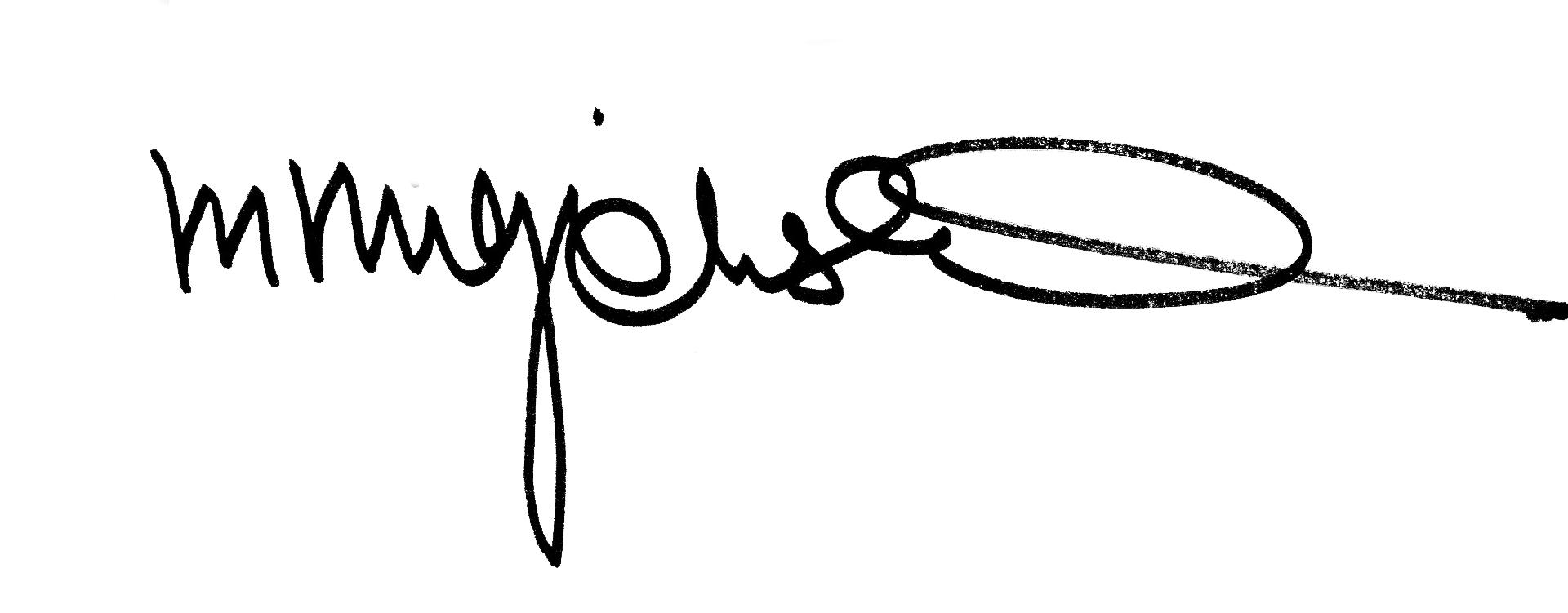 Margo MajEWSKA's Signature