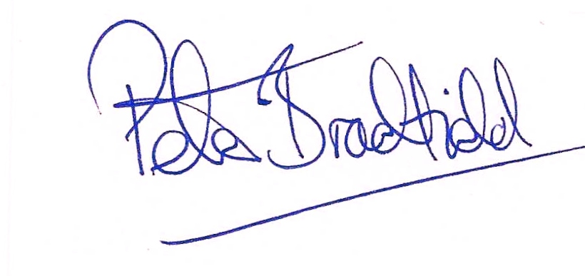 Peter Bradfield's Signature