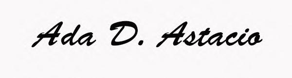 Ada Astacio's Signature