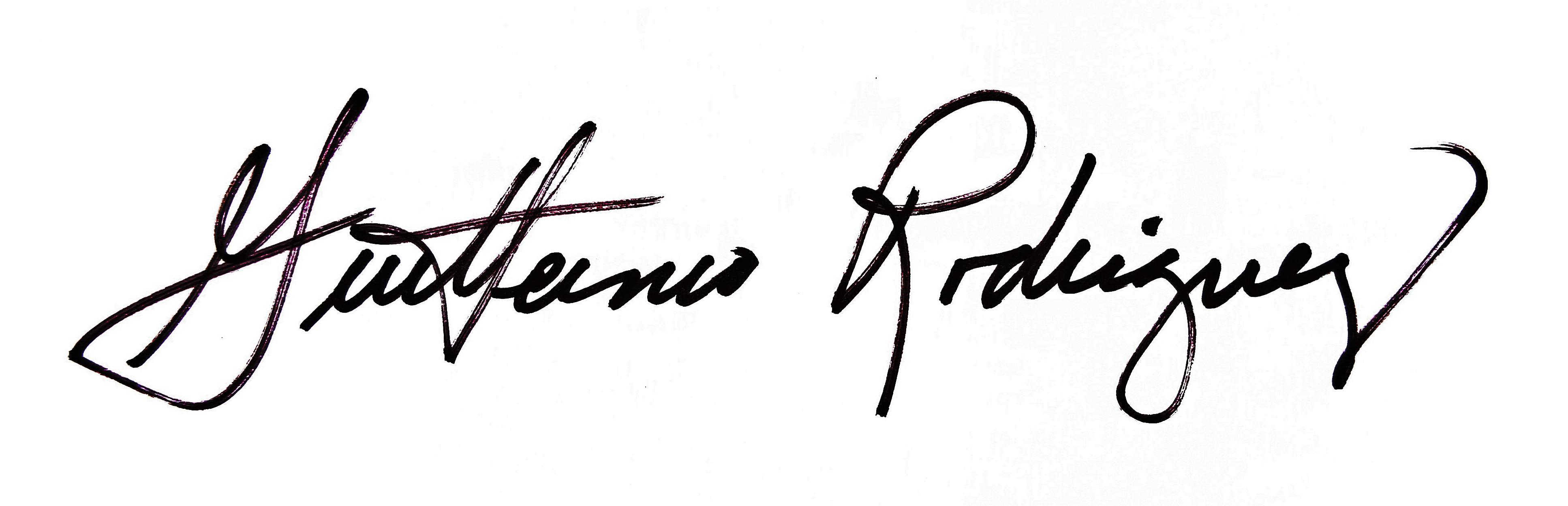 Guillermo Rodriguez's Signature