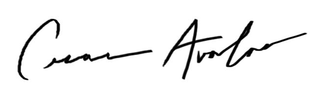 Cesar Avalos's Signature
